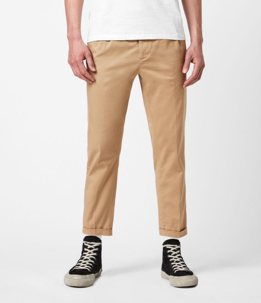 Men's Javan Cropped Slim Trousers (sand) - Image 1