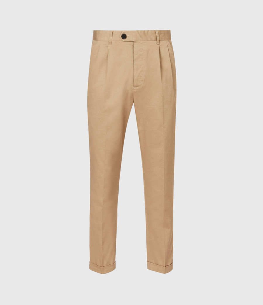 Men's Javan Cropped Slim Trousers (sand) - Image 2