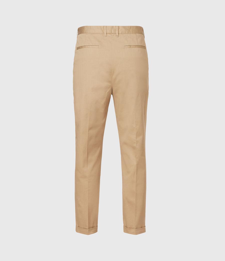 Men's Javan Cropped Slim Trousers (sand) - Image 3