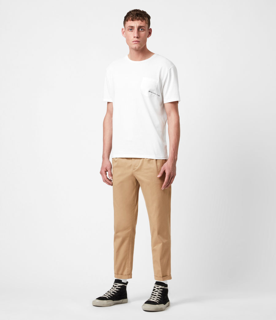 Men's Javan Cropped Slim Trousers (sand) - Image 4