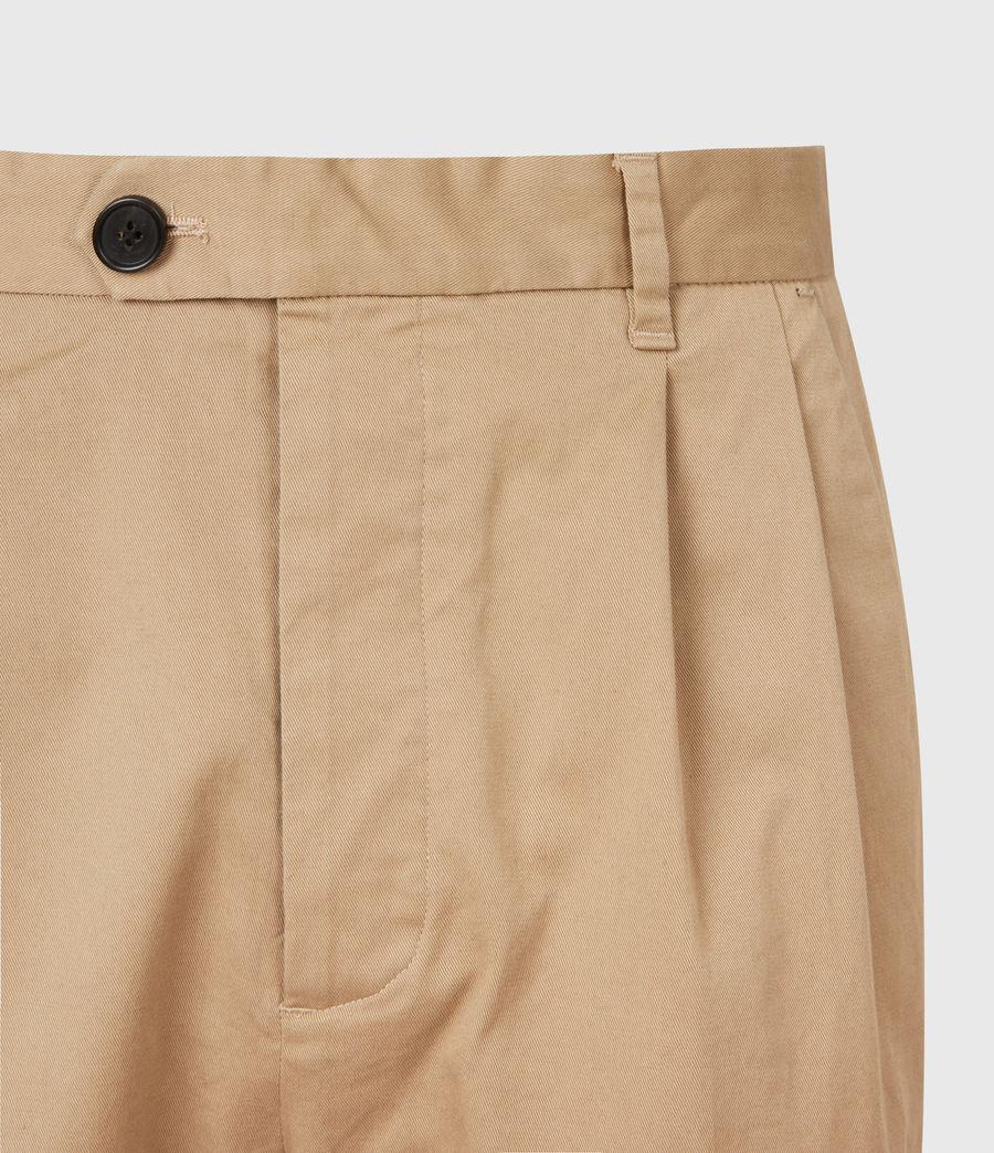 Men's Javan Cropped Slim Trousers (sand) - Image 5