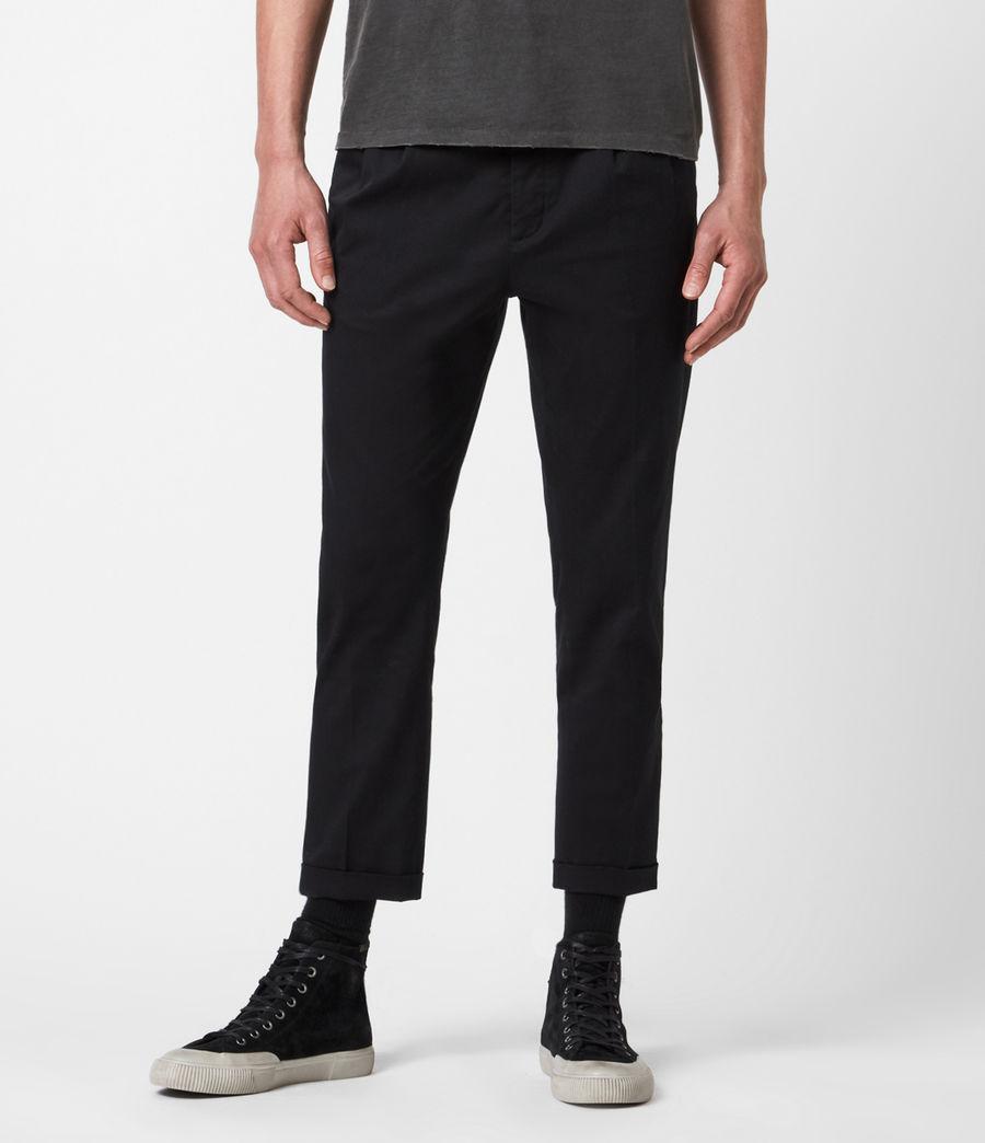 Mens Javan Cropped Slim Pants (ink) - Image 1