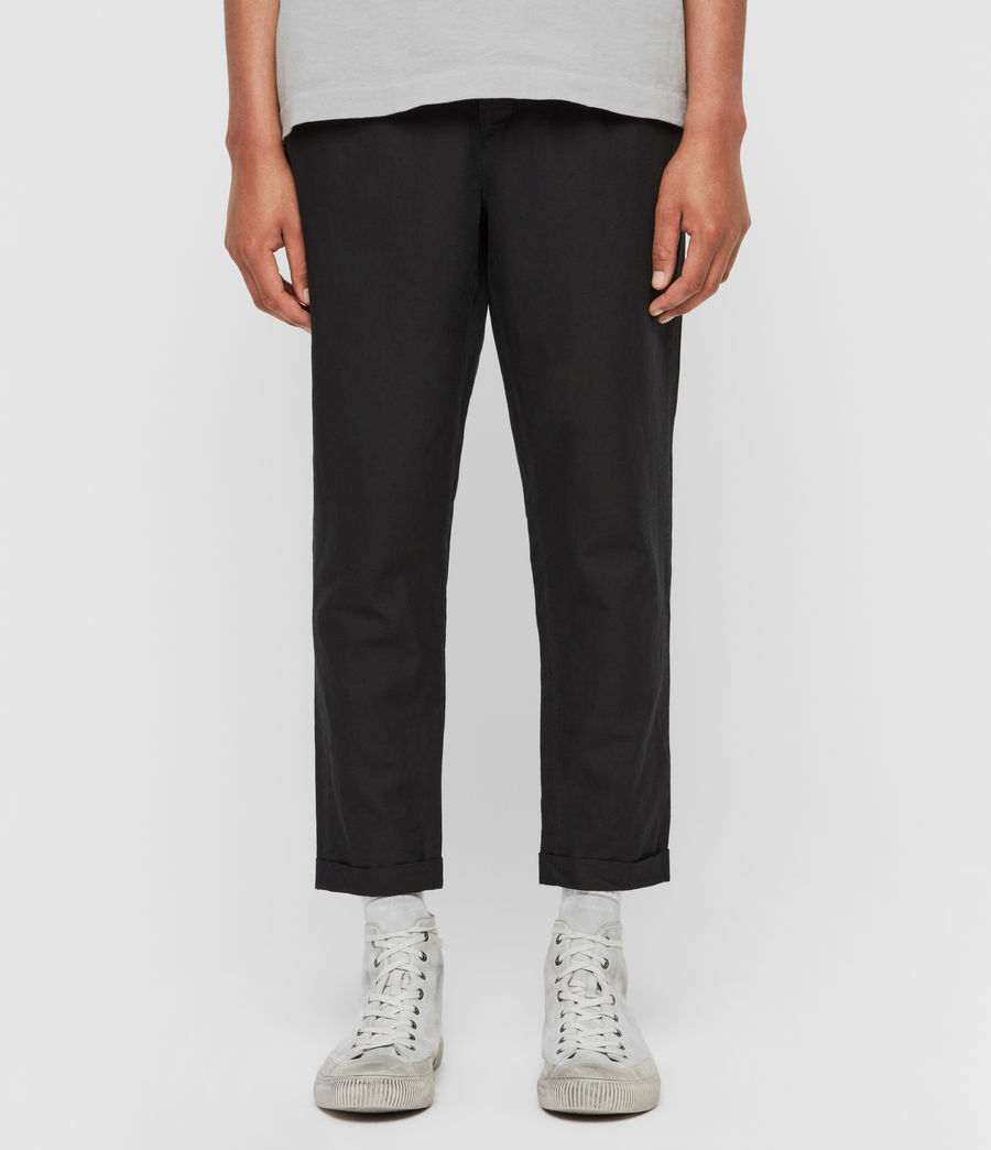 Mens Drayson Cropped Slim Pants (washed_black) - Image 1