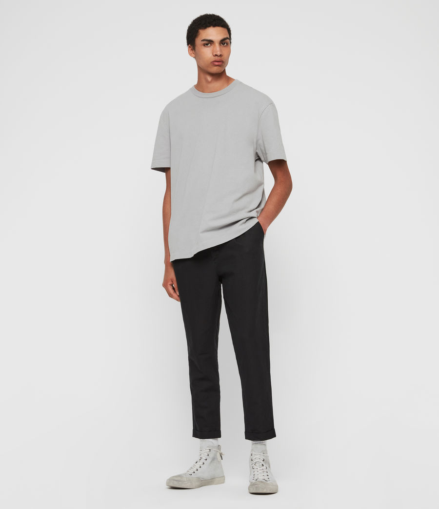 Men's Drayson Cropped Slim Trousers (washed_black) - Image 3