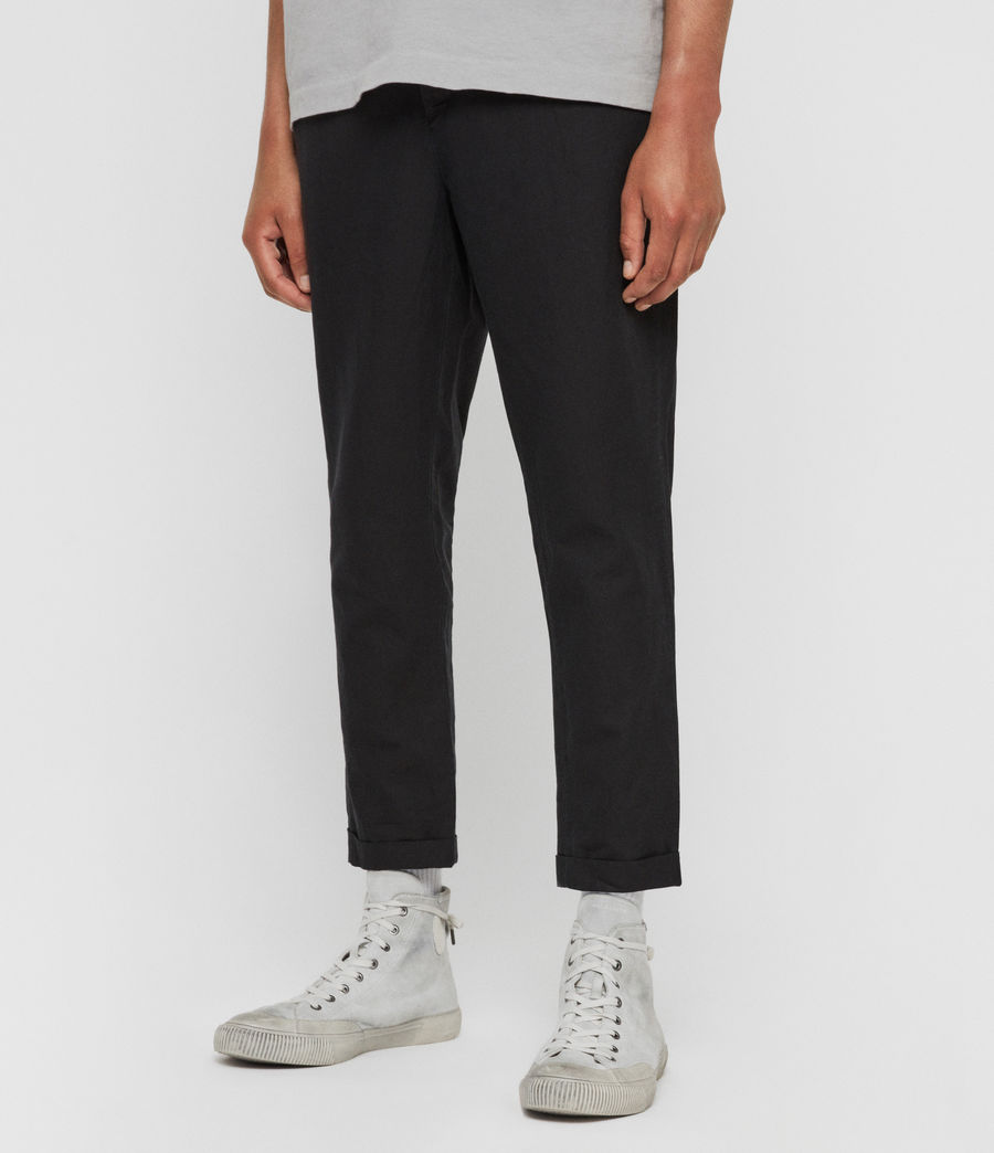 Men's Drayson Cropped Slim Trousers (washed_black) - Image 4
