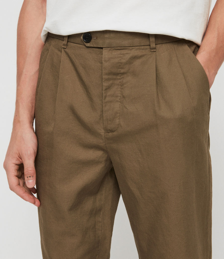 Mens Drayson Cropped Slim Pants (sutro_grey) - Image 2