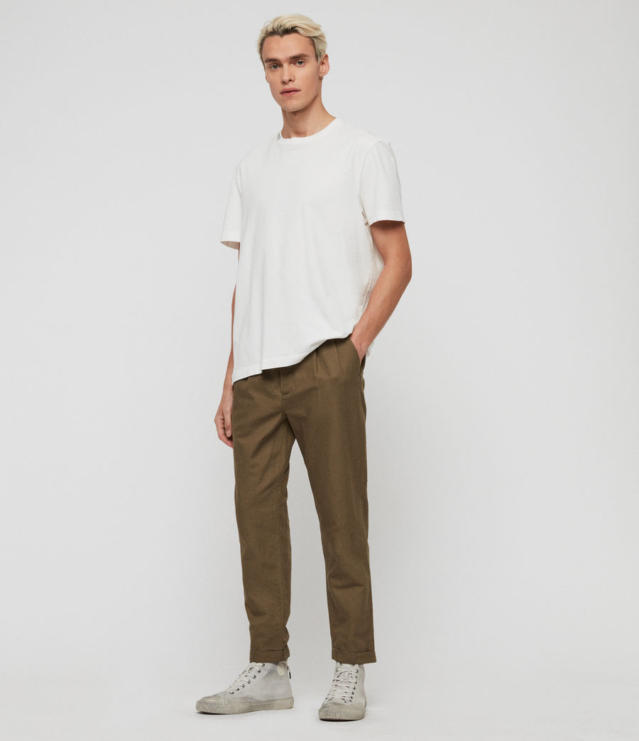 Mens Drayson Cropped Slim Pants (sutro_grey) - Image 3