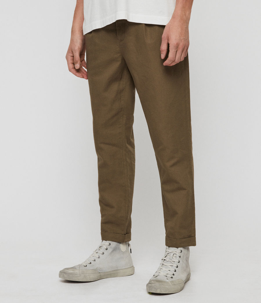 Mens Drayson Cropped Slim Pants (sutro_grey) - Image 4