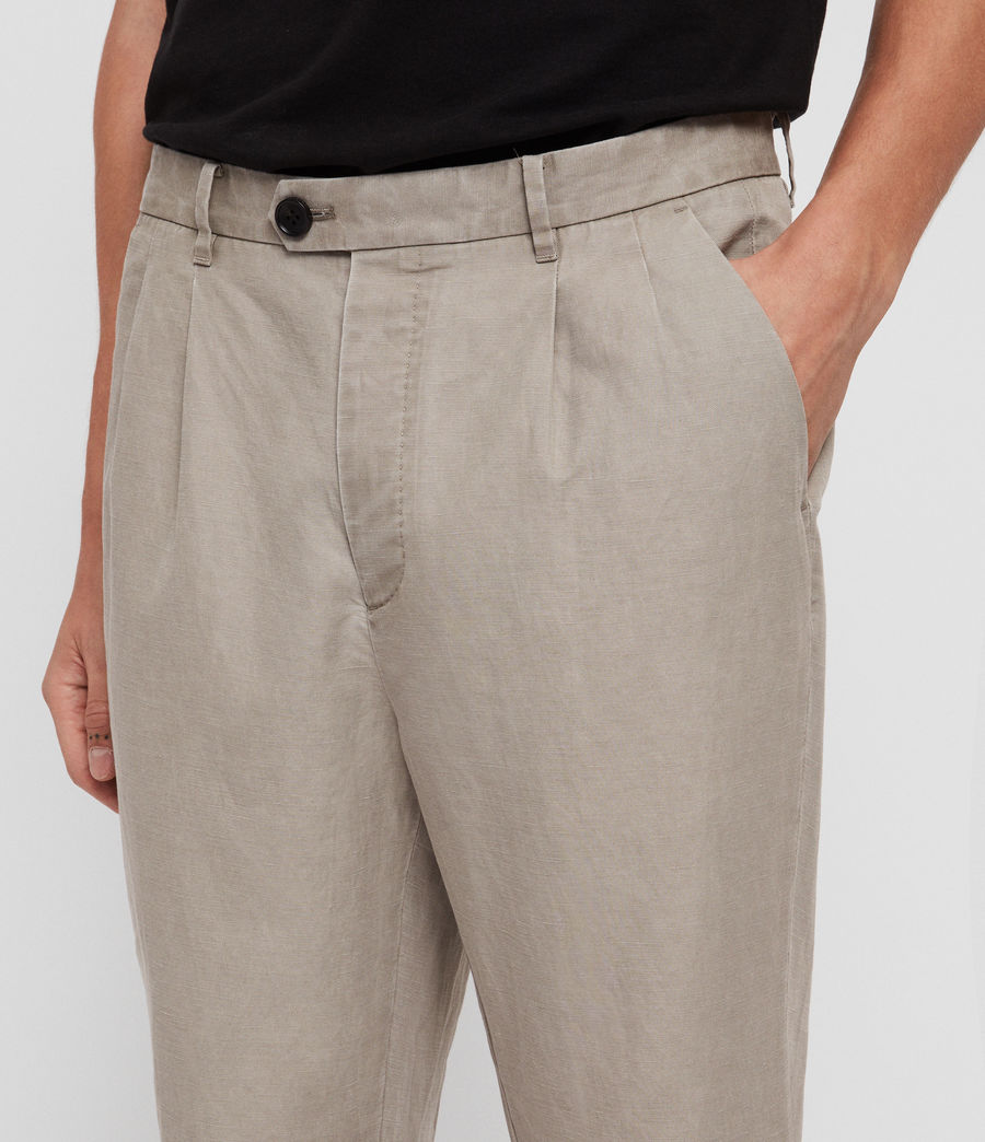 Mens Drayson Cropped Slim Pants (sutro_grey) - Image 1