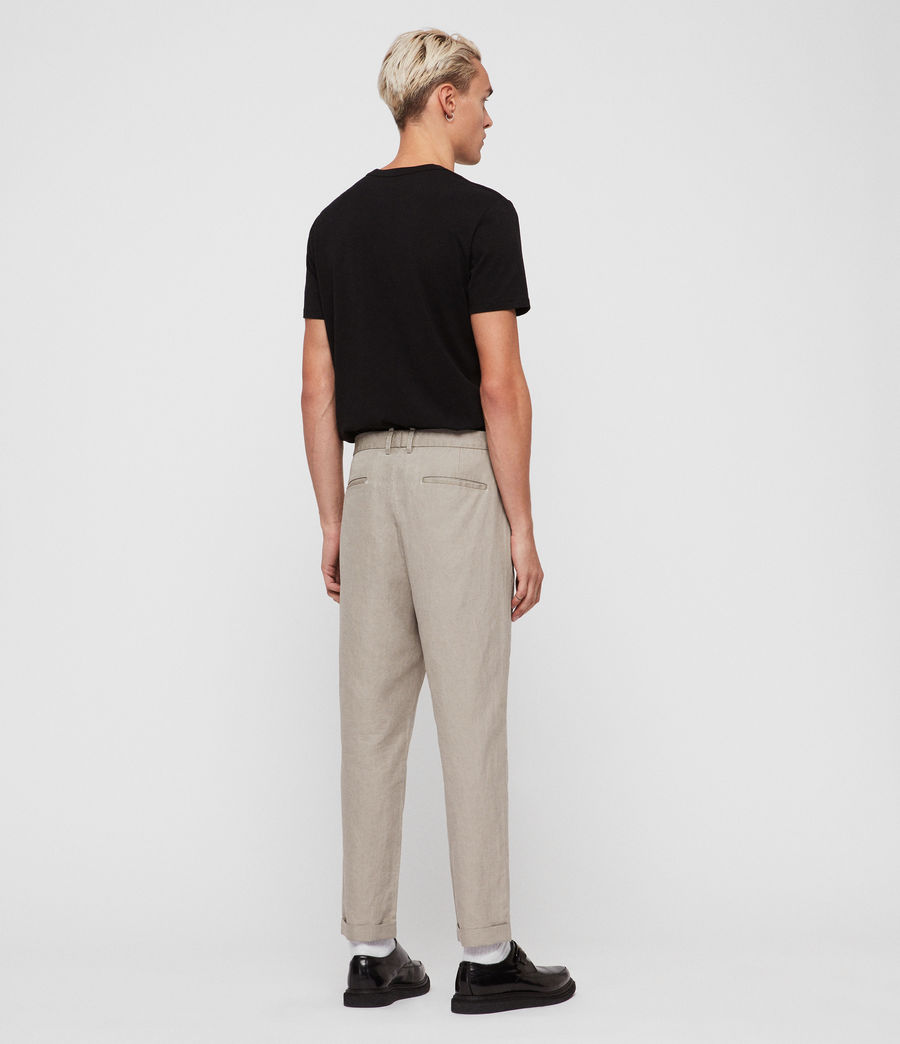Mens Drayson Cropped Slim Pants (sutro_grey) - Image 6