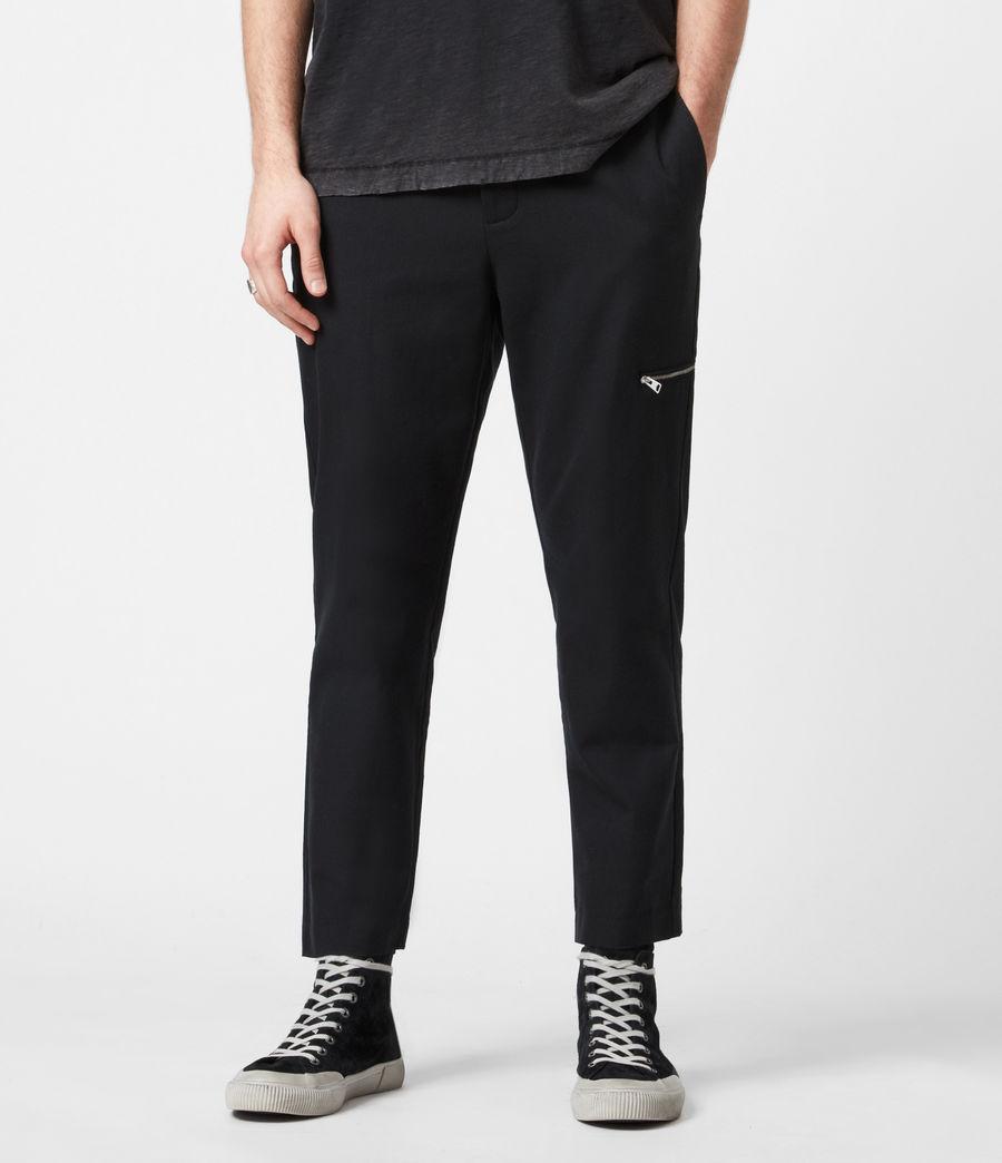 Men's Harding Slim Cropped Trousers (black) - Image 1
