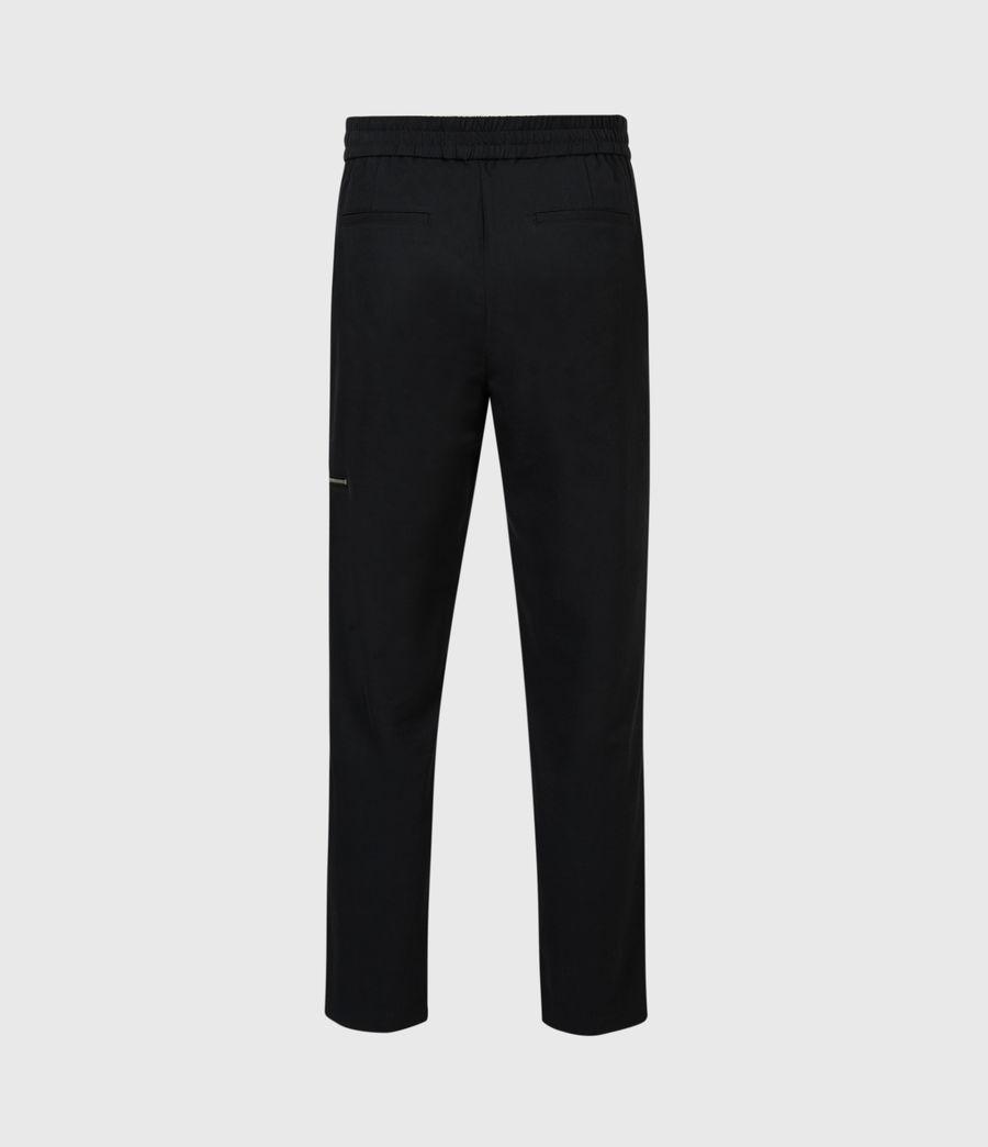 Men's Harding Slim Cropped Trousers (black) - Image 3