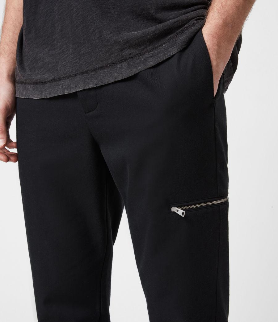 Men's Harding Slim Cropped Trousers (black) - Image 4