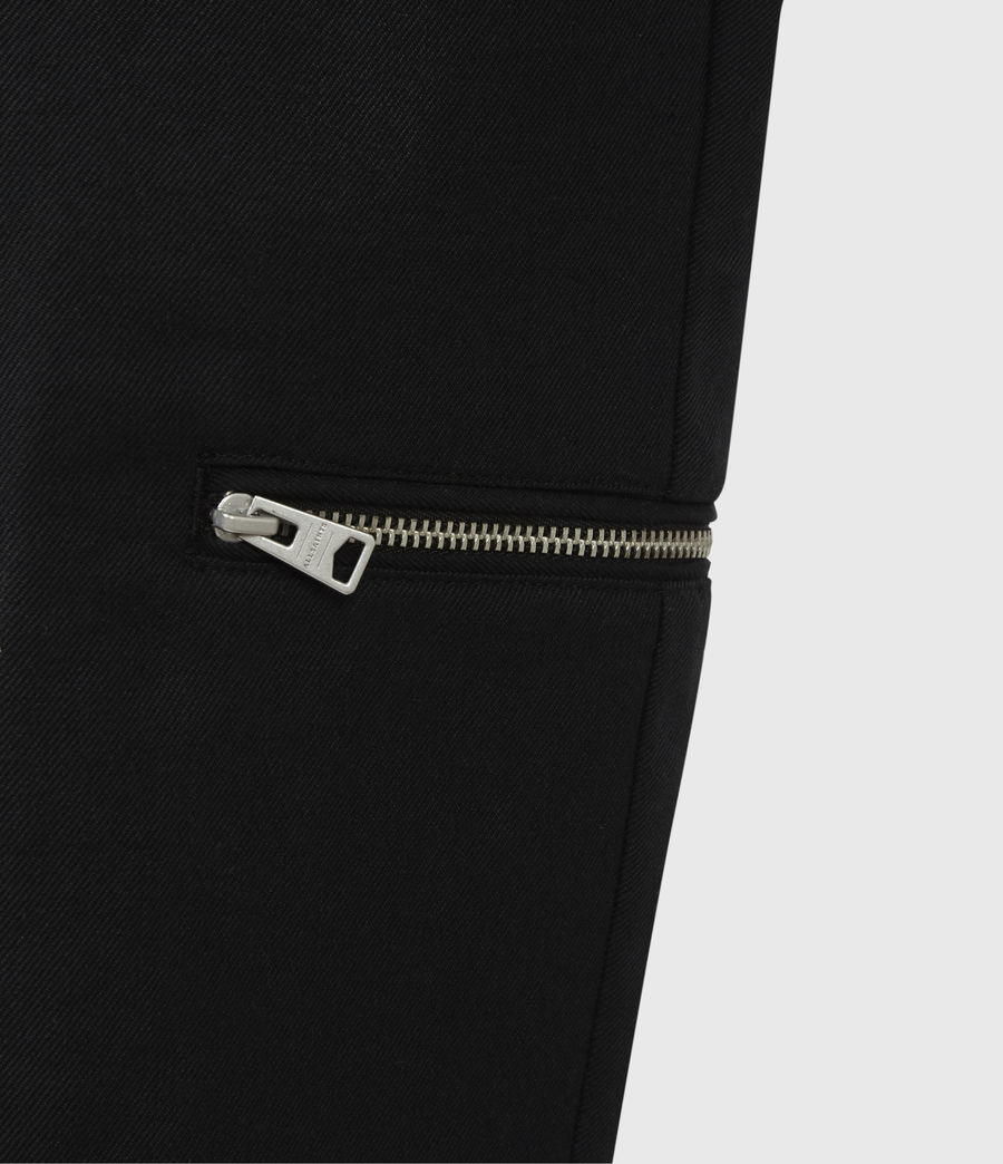 Men's Harding Slim Cropped Trousers (black) - Image 6