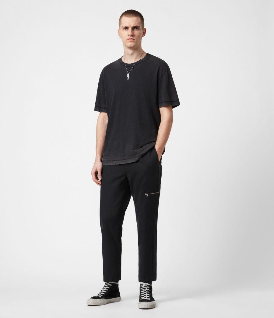 Men's Harding Slim Cropped Trousers (black) - Image 7
