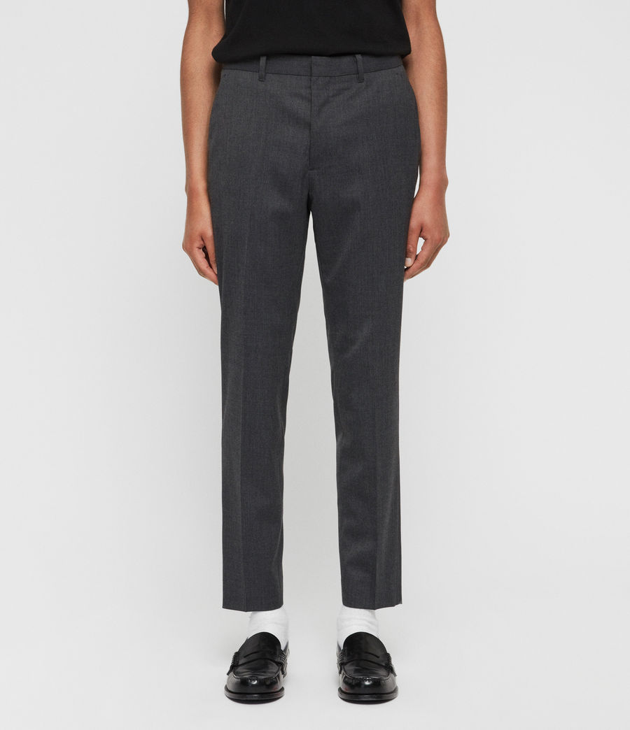 Mens Hendon Cropped Slim Pants (charcoal_grey) - Image 1