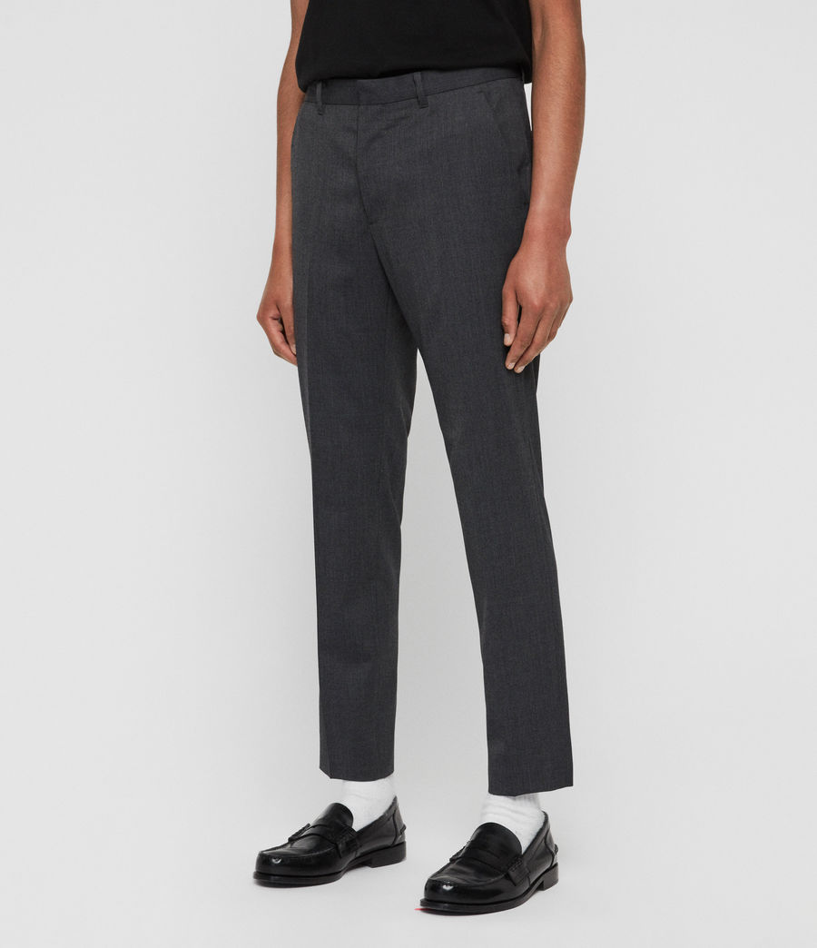 Mens Hendon Cropped Slim Pants (charcoal_grey) - Image 2