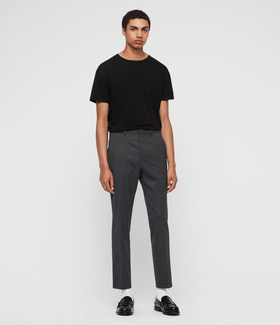 Mens Hendon Cropped Slim Pants (charcoal_grey) - Image 3