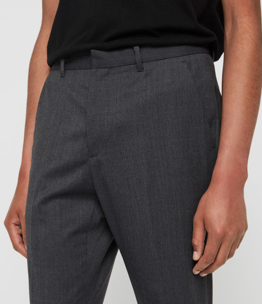 Mens Hendon Cropped Slim Pants (charcoal_grey) - Image 4