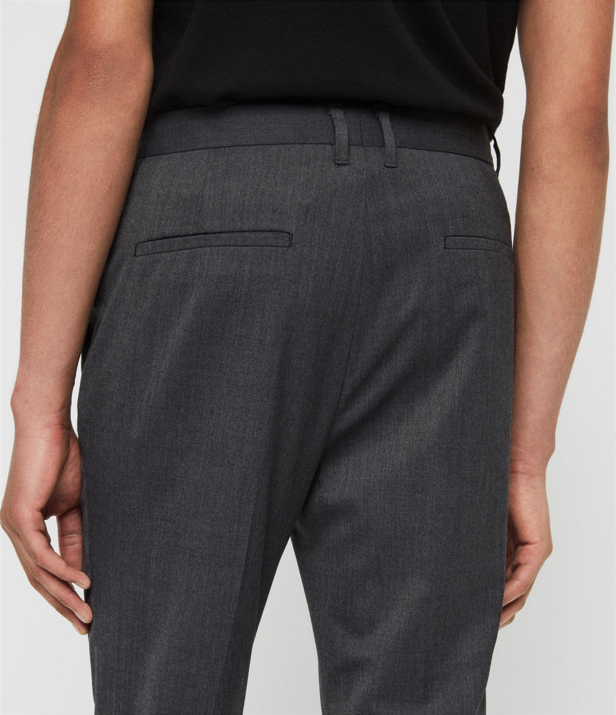 Mens Hendon Cropped Slim Pants (charcoal_grey) - Image 5