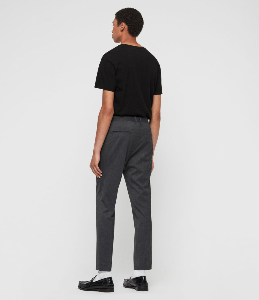 Mens Hendon Cropped Slim Pants (charcoal_grey) - Image 6