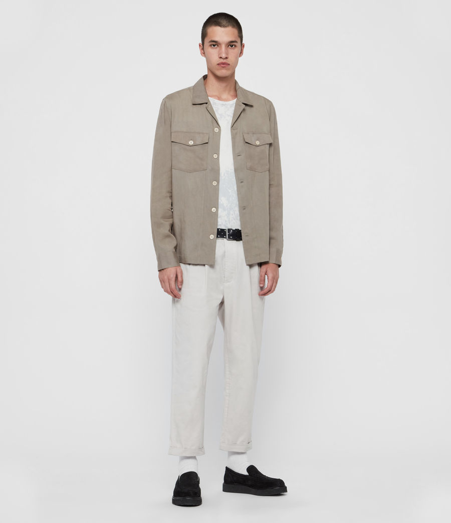 Men's Andaman Slim Trousers (oyster) - Image 1