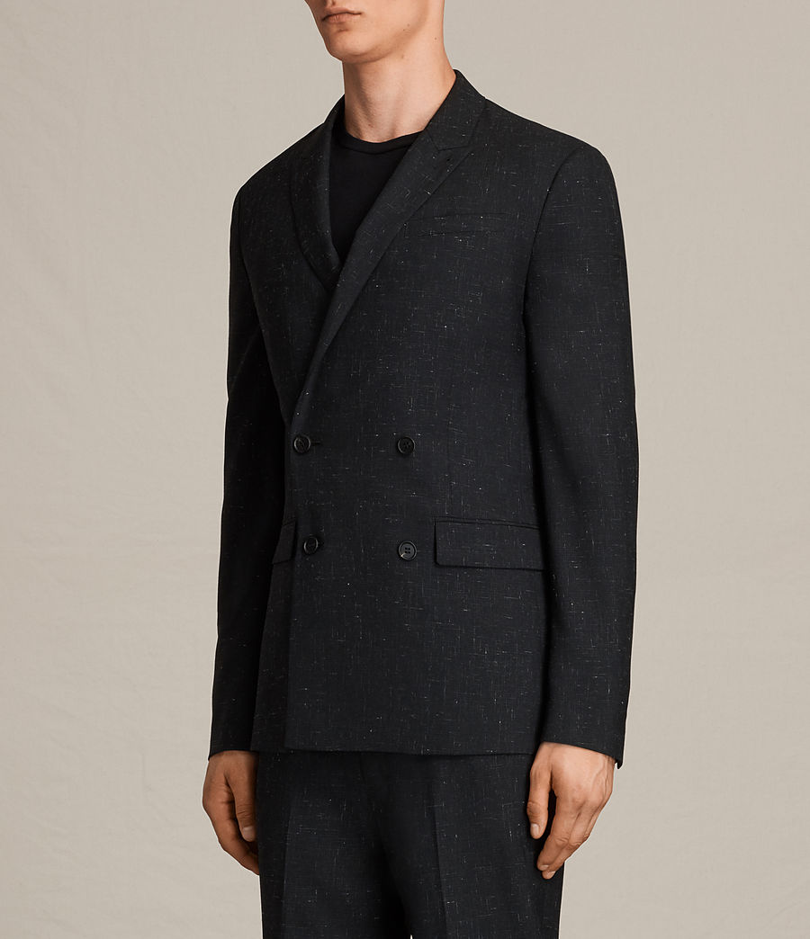 Herren Belfast Double-Breasted Blazer (black) - Image 3