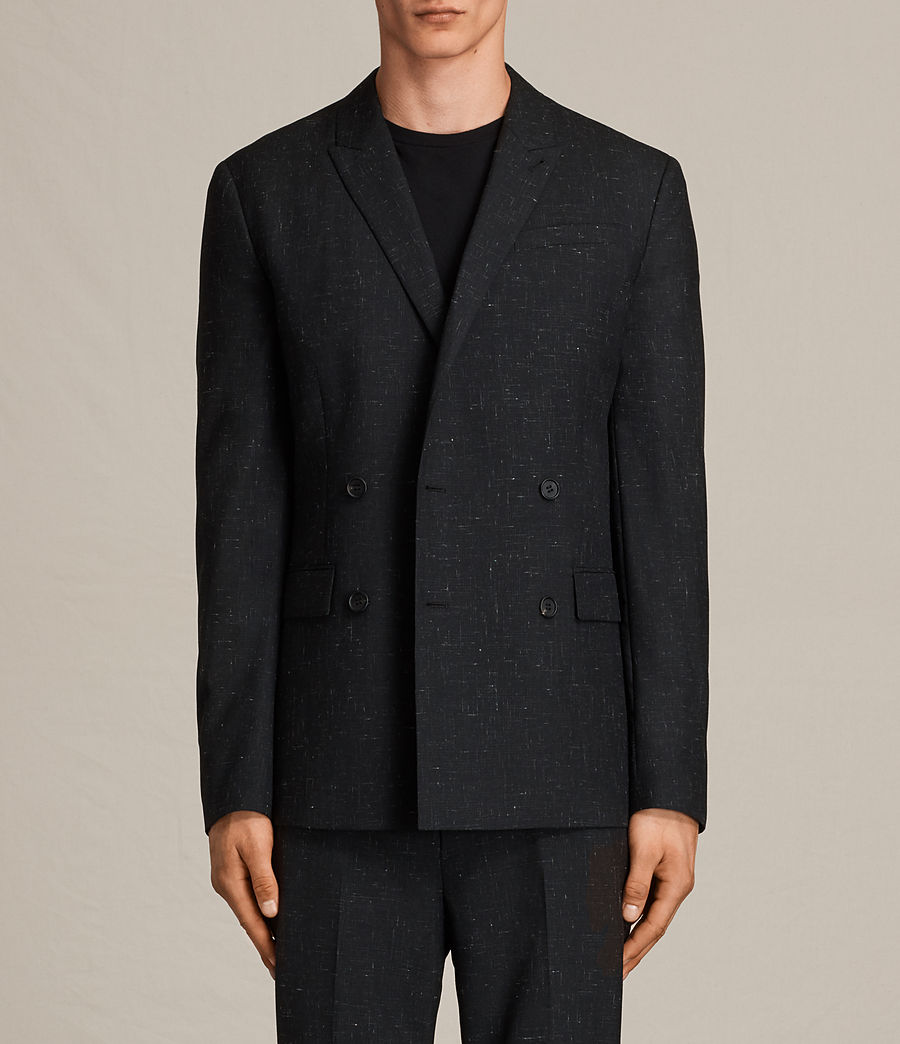 Herren Belfast Double-Breasted Blazer (black) - Image 5