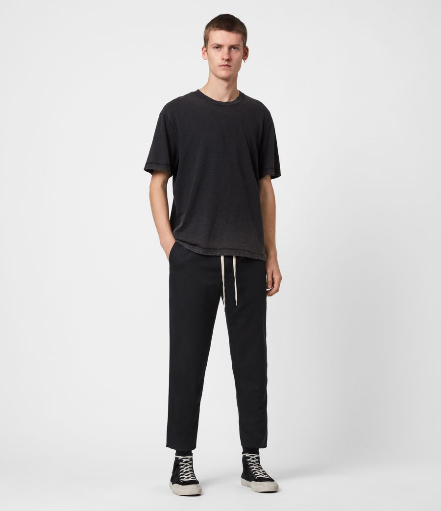 Mens Algol Cropped Slim Pants (black) - Image 4