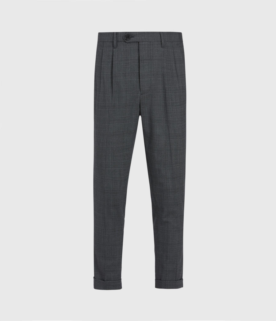 Mens Batalha Cropped Slim Pants (charcoal) - Image 2