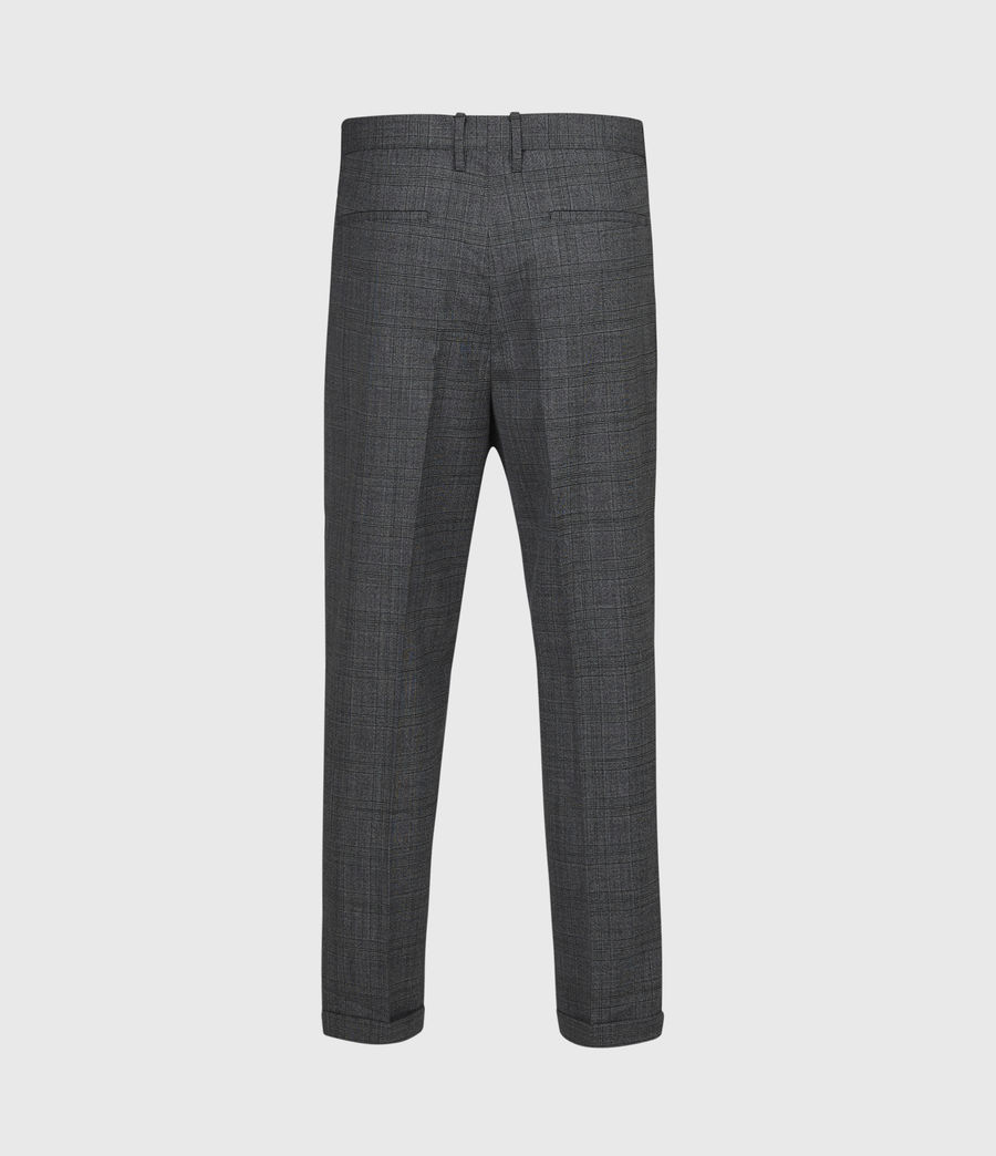 Mens Batalha Cropped Slim Pants (charcoal) - Image 3