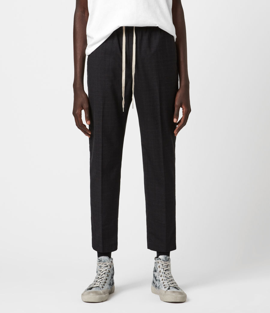 Men's Acrux Cropped Straight Trousers (charcoal) - Image 1