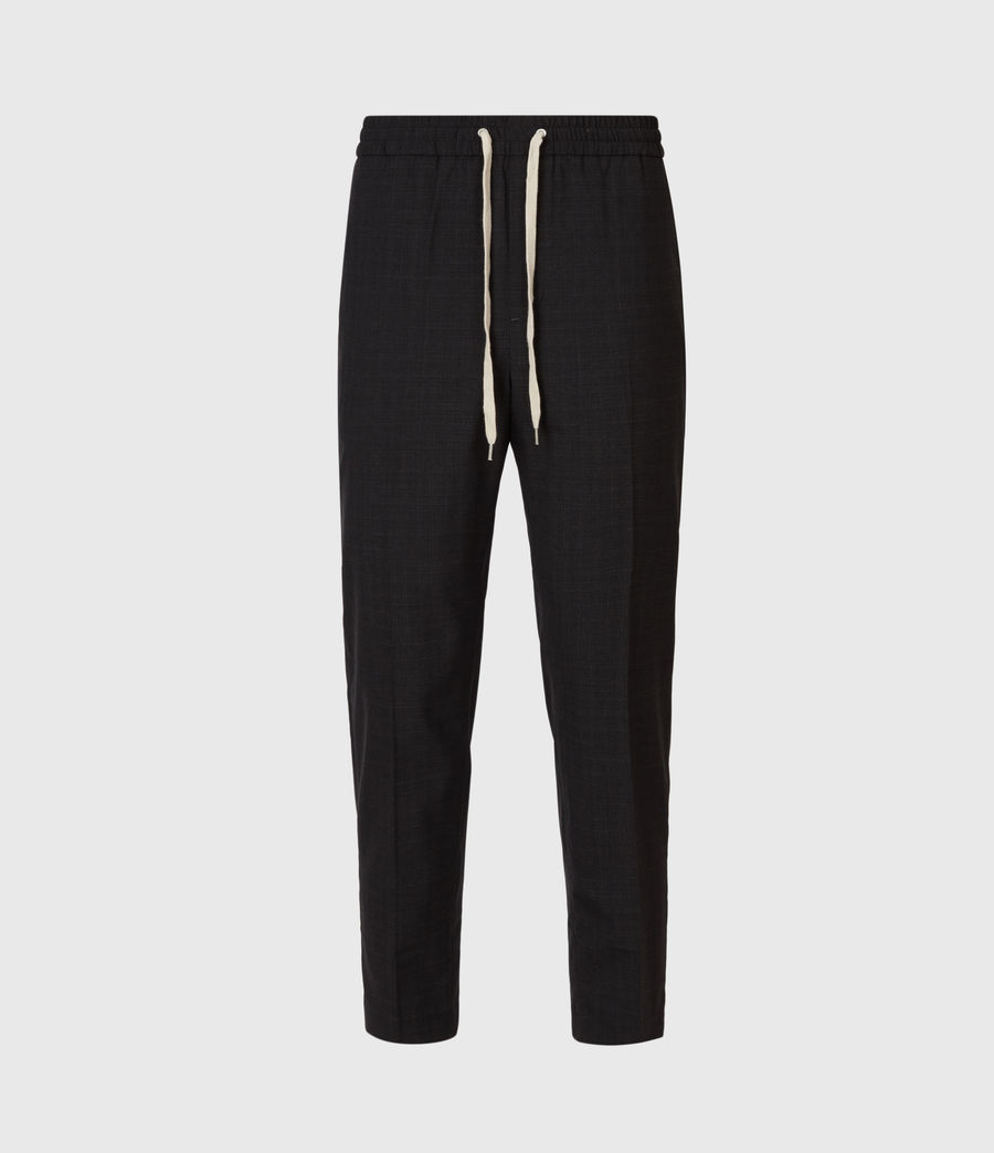 Men's Acrux Cropped Straight Trousers (charcoal) - Image 2