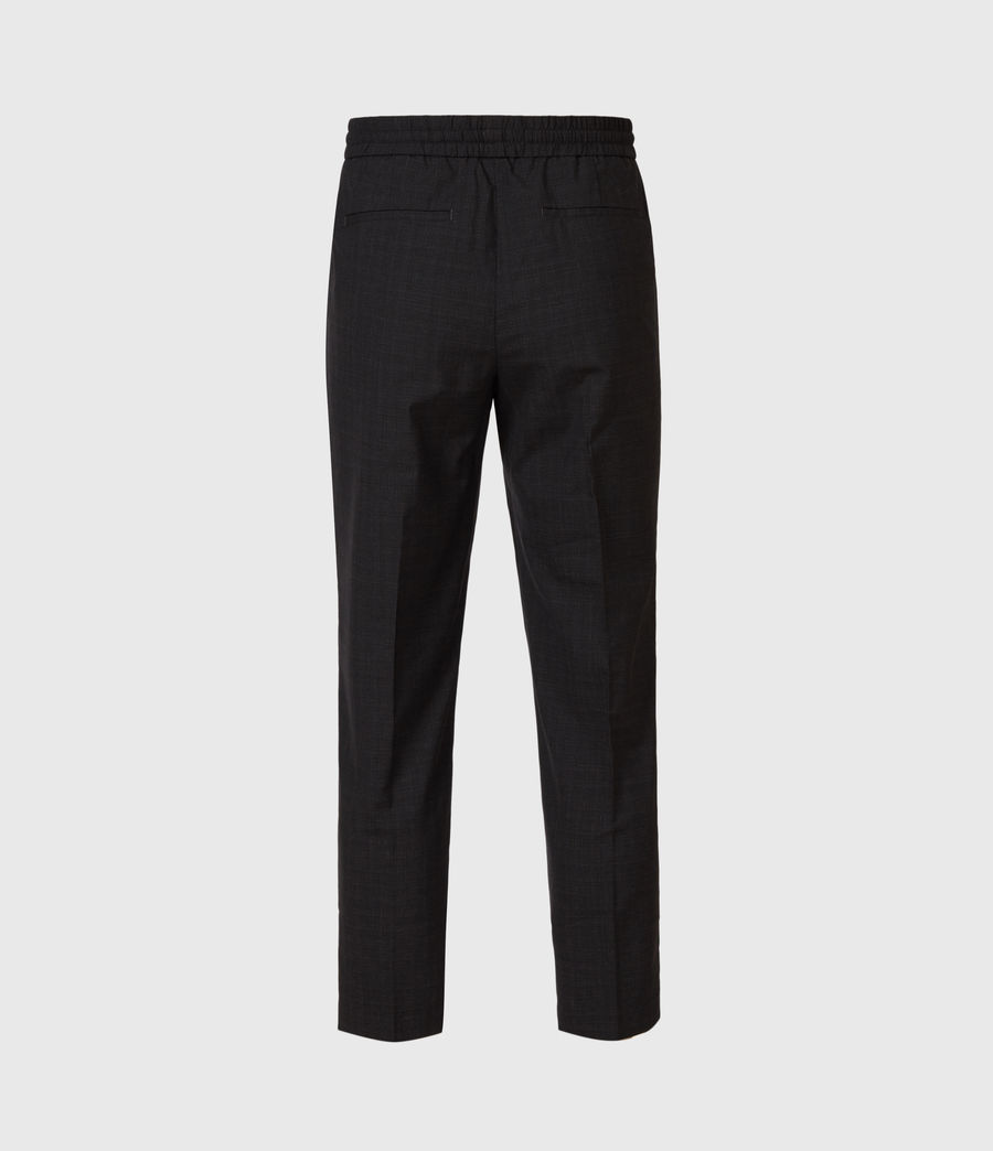 Men's Acrux Cropped Straight Trousers (charcoal) - Image 3