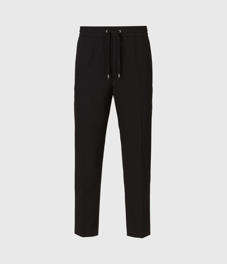 Mens Alcor Cropped Slim Pants (black) - Image 2