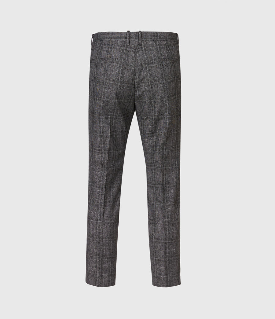 Hommes Bennett Cropped Slim Trousers (charcoal) - Image 3