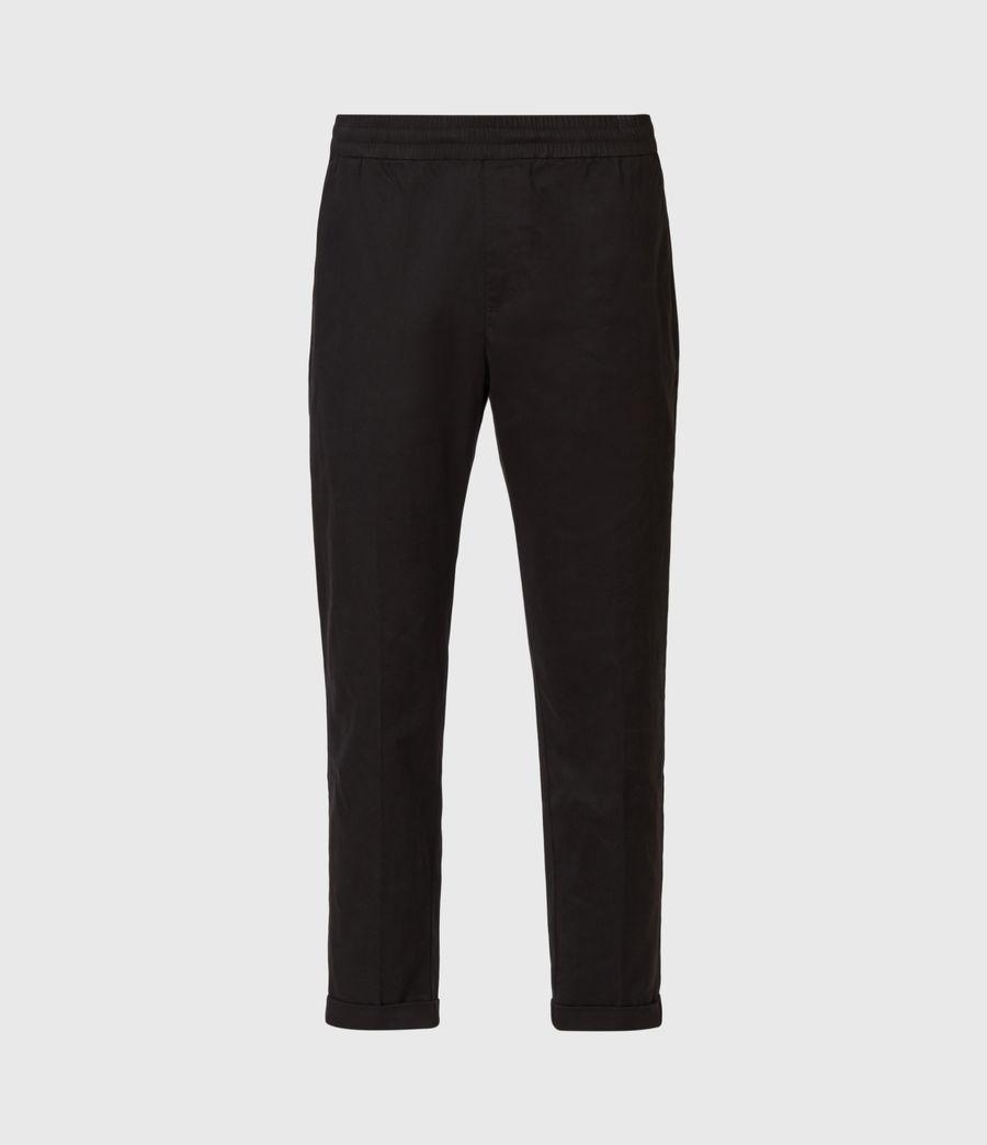 Men's Dix Cropped Slim Trousers (black) - Image 2