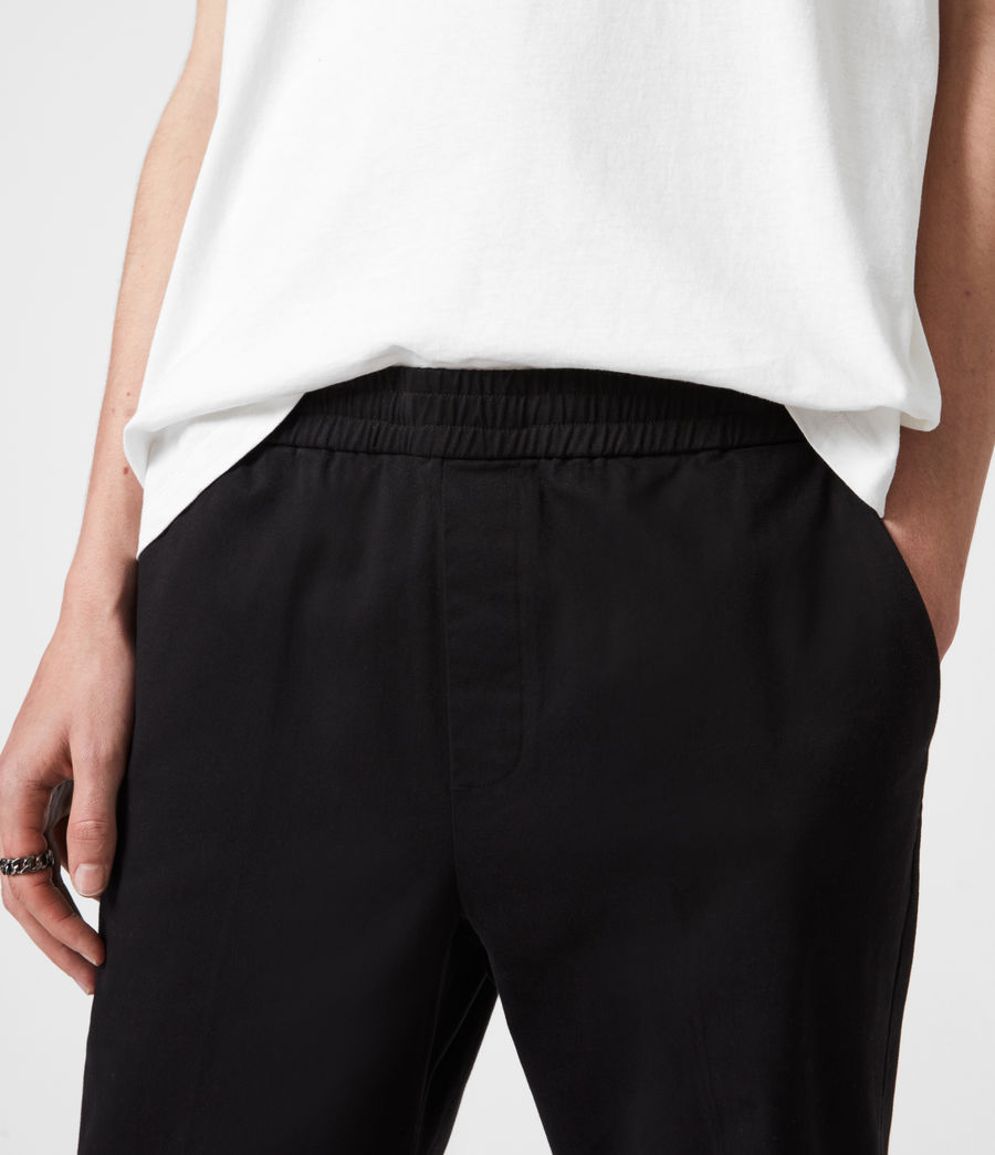 Men's Dix Cropped Slim Trousers (black) - Image 6