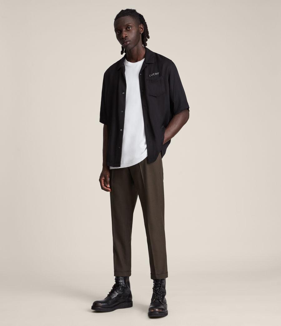 Mens Tallis Cropped Slim Pants (ranch_brown) - Image 1