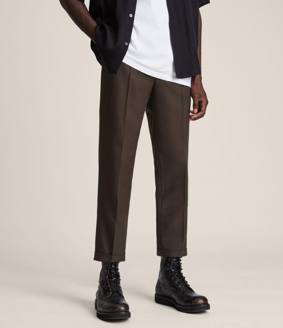 Mens Tallis Cropped Slim Pants (ranch_brown) - Image 2