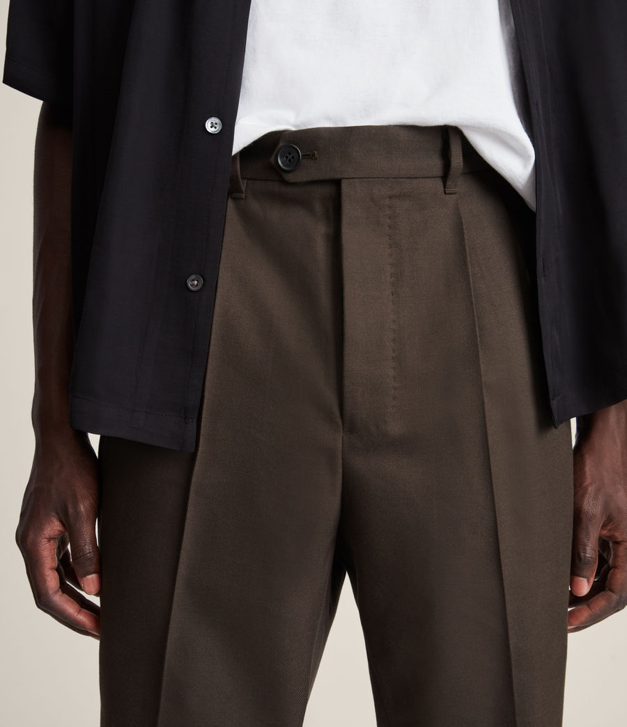 Mens Tallis Cropped Slim Pants (ranch_brown) - Image 3