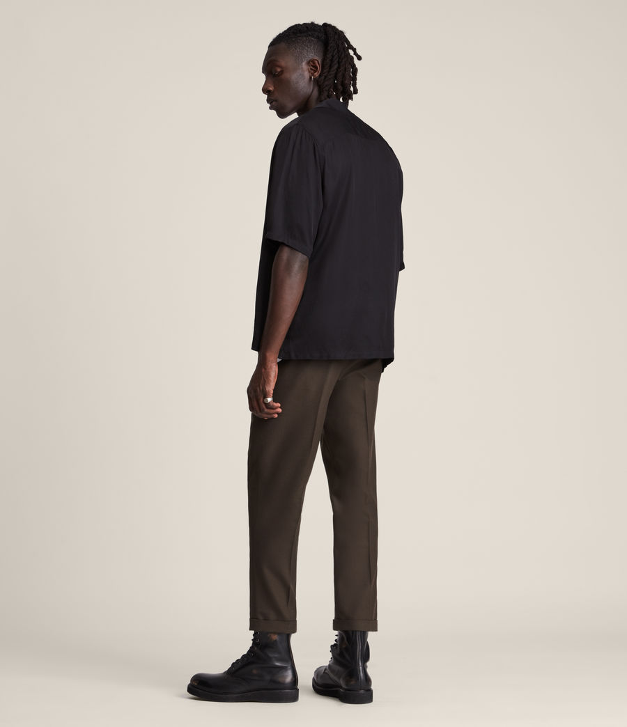 Mens Tallis Cropped Slim Pants (ranch_brown) - Image 4