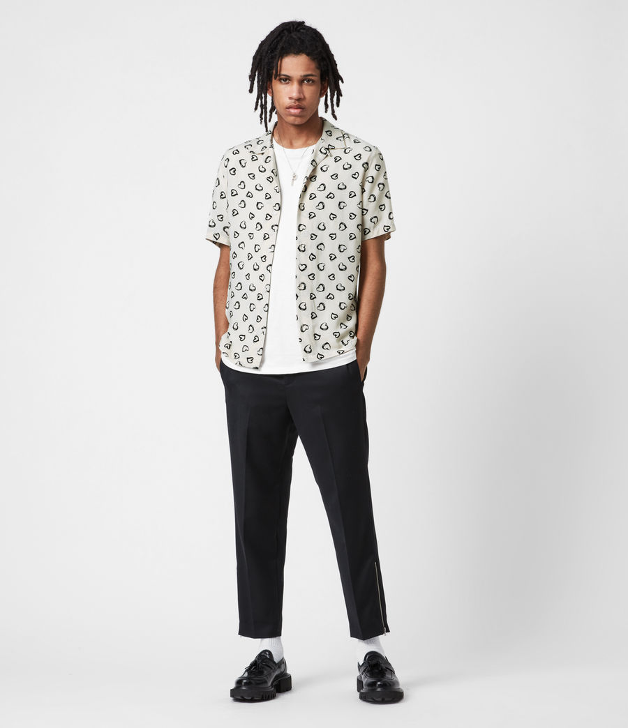 Men's Branfield Cropped Slim Trousers (black) - Image 1