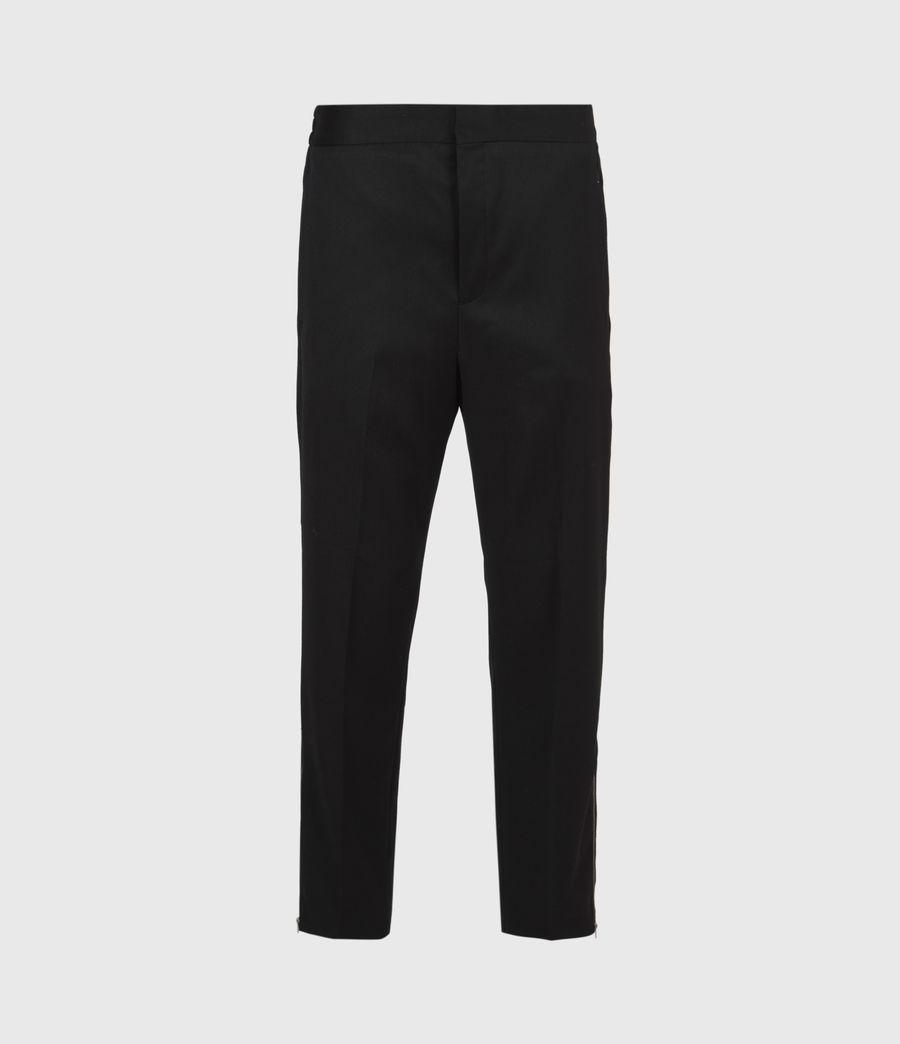 Men's Branfield Cropped Slim Trousers (black) - Image 2