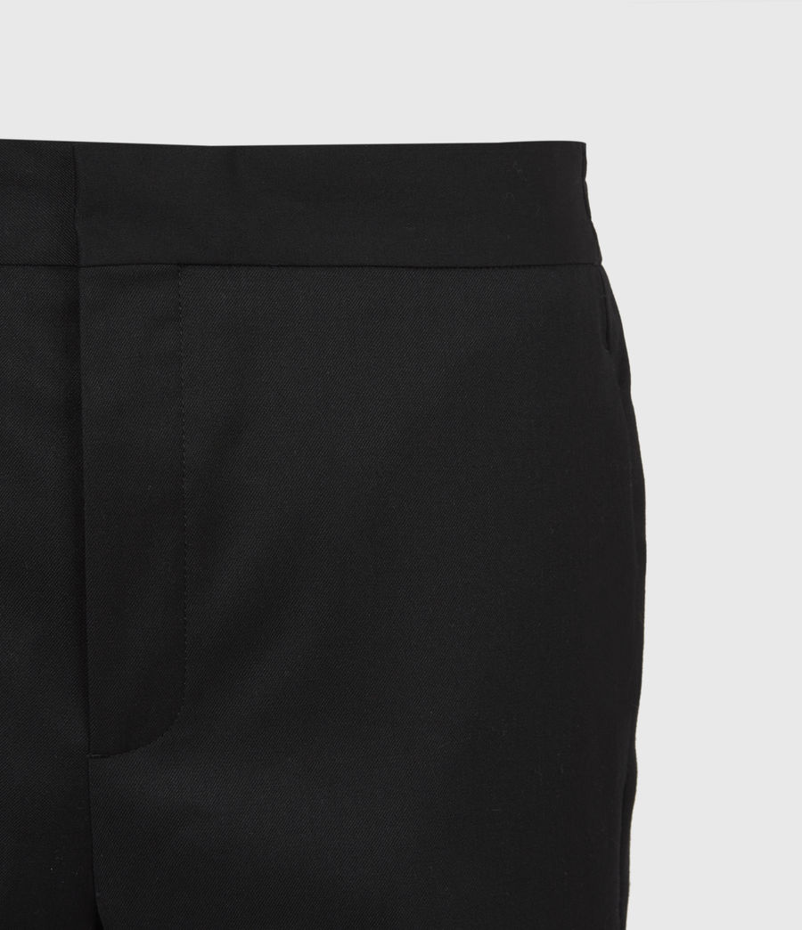 Men's Branfield Cropped Slim Trousers (black) - Image 5