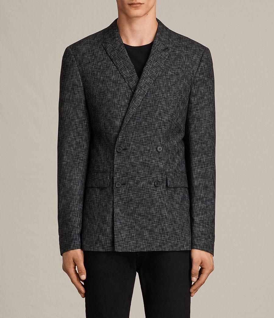 Mens Farndale Double-Breasted Blazer (black_grey) - Image 1