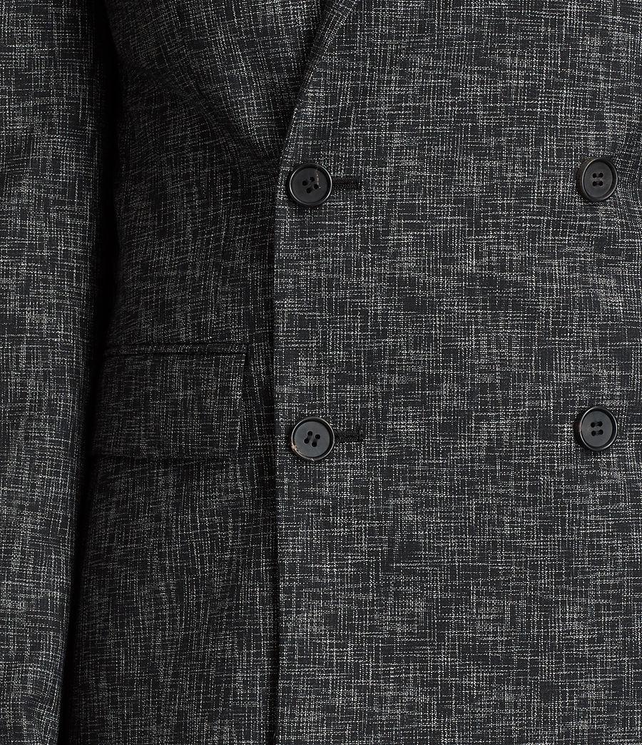 Mens Farndale Double-Breasted Blazer (black_grey) - Image 2