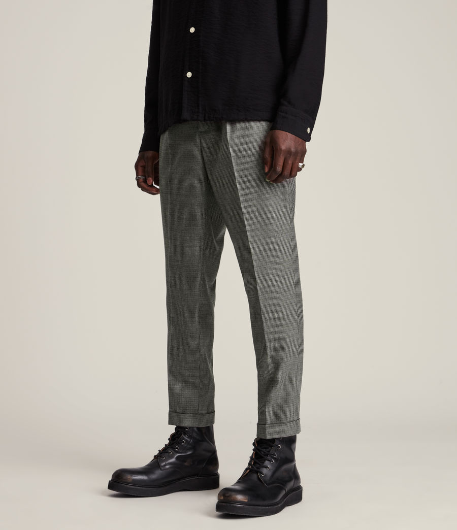 Men's Holt Cropped Slim Trousers (grey_brown) - Image 2
