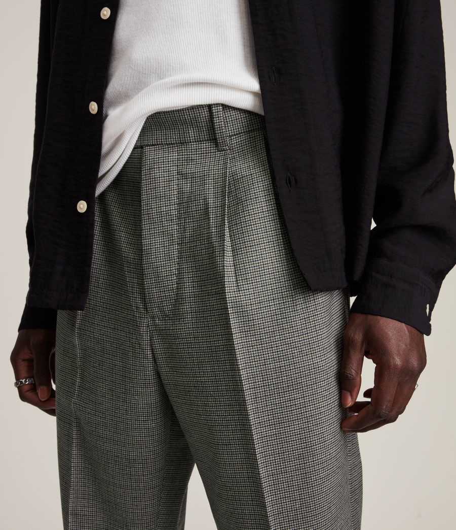 Men's Holt Cropped Slim Trousers (grey_brown) - Image 3