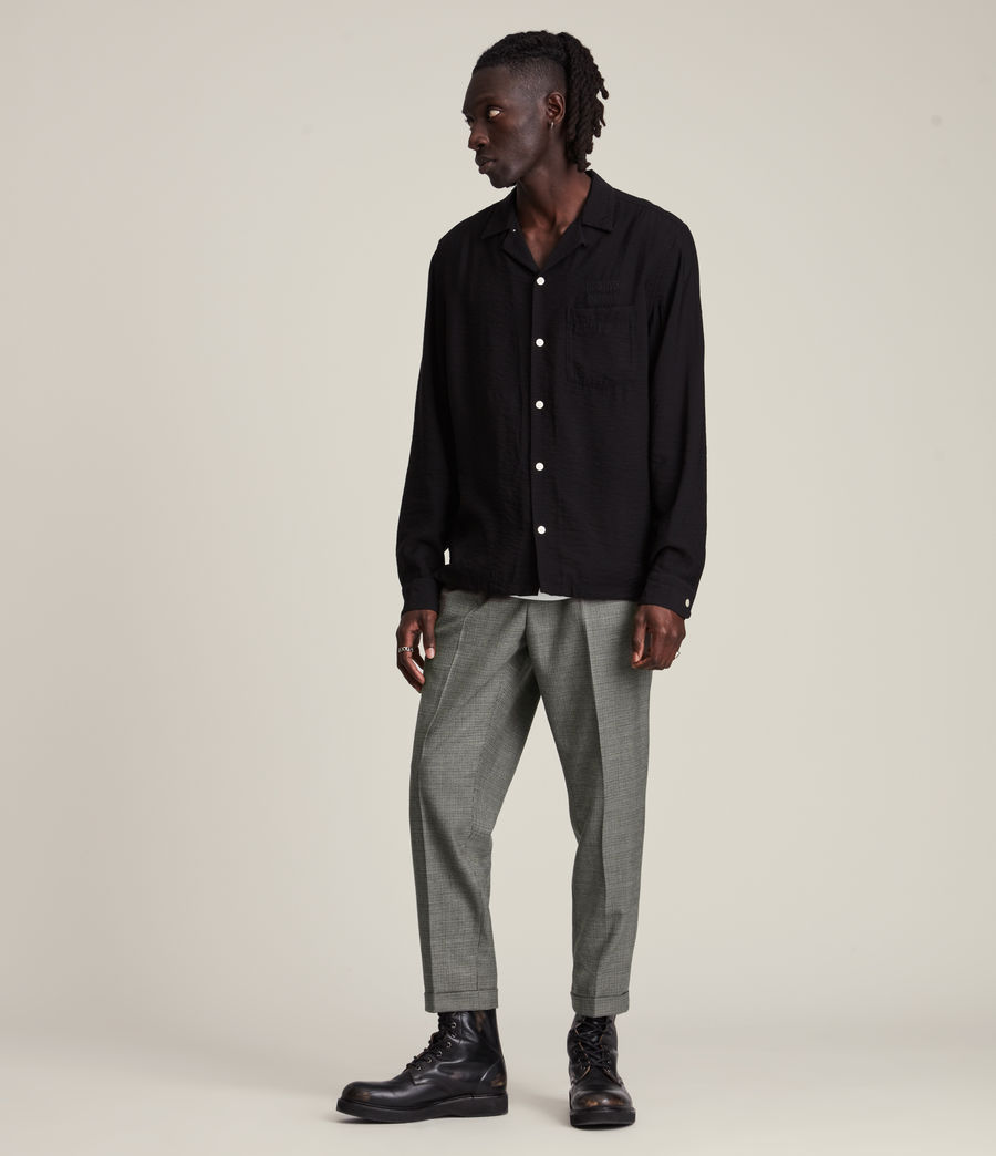 Men's Holt Cropped Slim Trousers (grey_brown) - Image 4